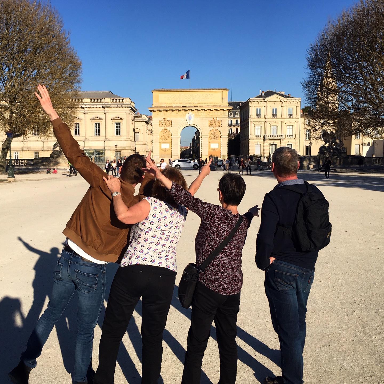 Visit'insolite Montpellier arc de triomphe