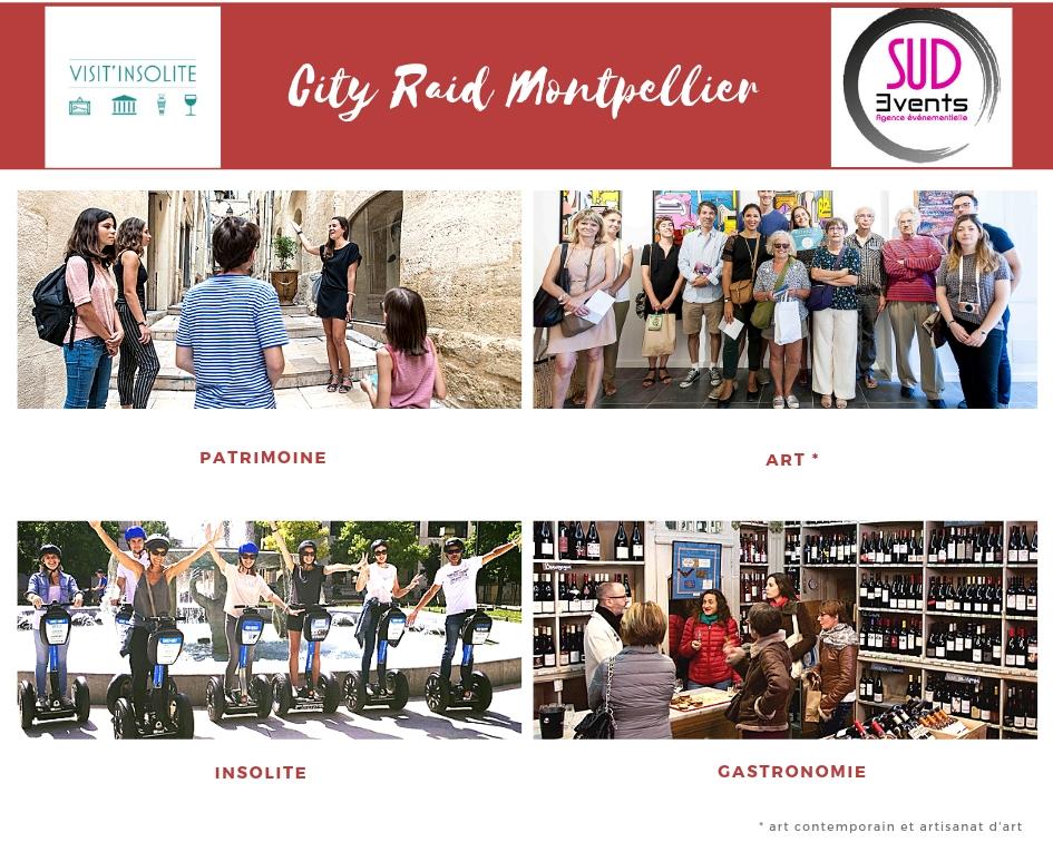 City Raid Visit'insolite Montpellier