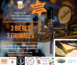 VISIT tasting beers Montpellier
